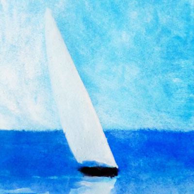 Blue Sea and Dhow (detail)