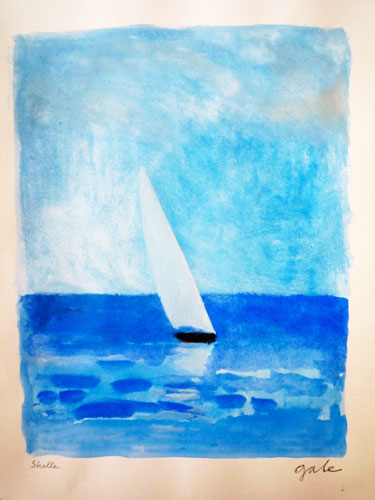 Blue Sea and Dhow