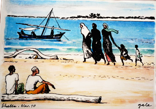 Families on Beach