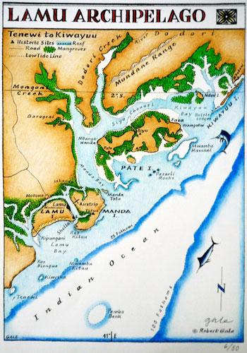 Lamu Archipelago Map