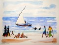 Shella Beach Scene with Dhow II