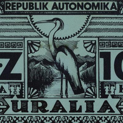 100 zloki banknote (reverse detail)