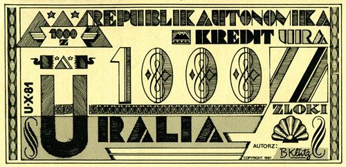 Banknote - 1000 Zloki (reverse)