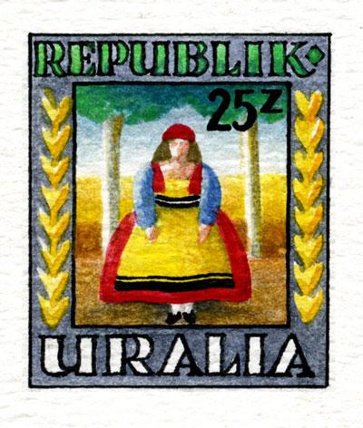 Uralia Folk Cuture stamp
