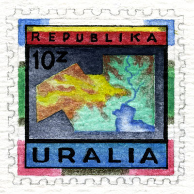 Uralia Folk Stamp