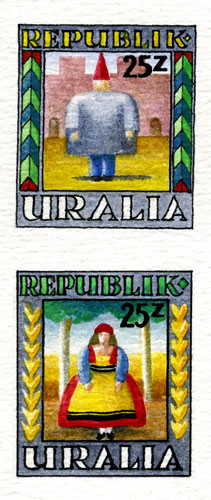 Uralia Folk Cuture stamps