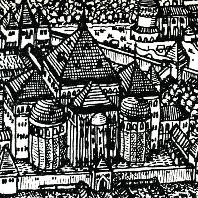 Woodcut of Zvarskoga, 1580 (detail)