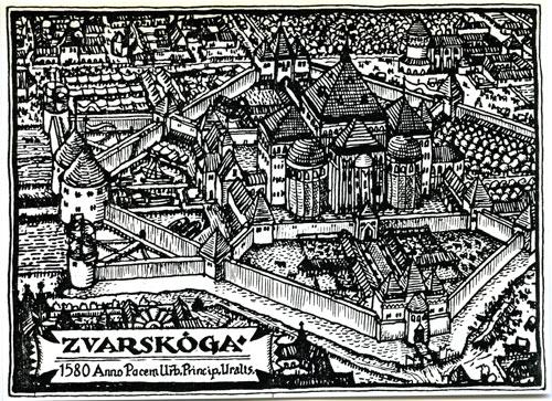 Woodcut of Zvarskoga, 1580