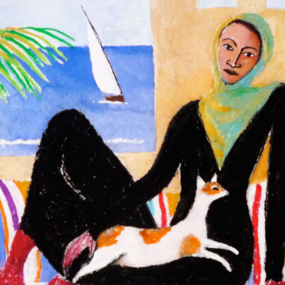 Woman with Cat II (detail)