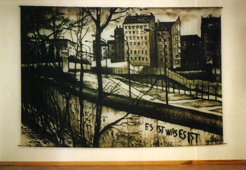 Berlin Wall at Bernauerstrasse by Bob Gale (1990)