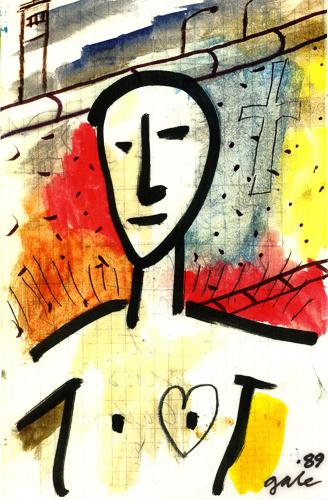 Mauer Mensch by Bob Gale
