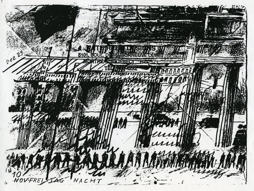 10th November, Freitag Nacht, Brandenburg Gate by Bob Gale (1989)