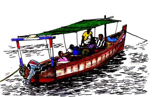 Bus Boat at Anchor