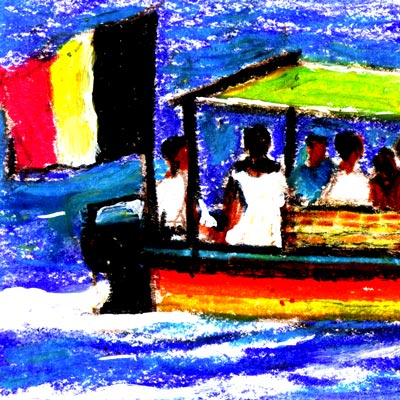 Lamu Island Bus Boat (detail)