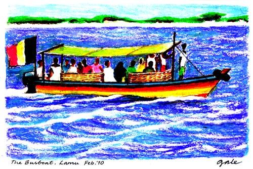 Lamu Island Bus Boat