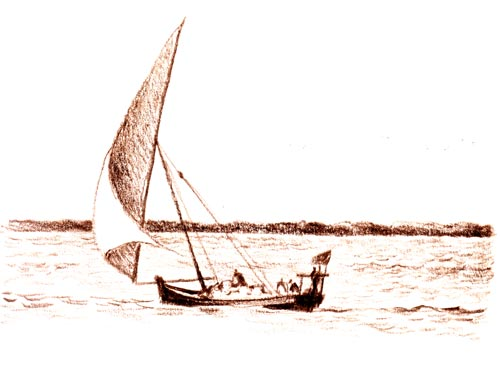Dhow with Coral Cargo