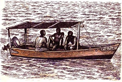 Figures in Boat