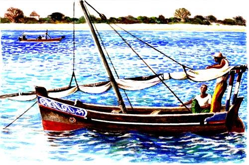 Mashua Dhow at Anchor