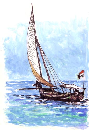 Man on Dhow