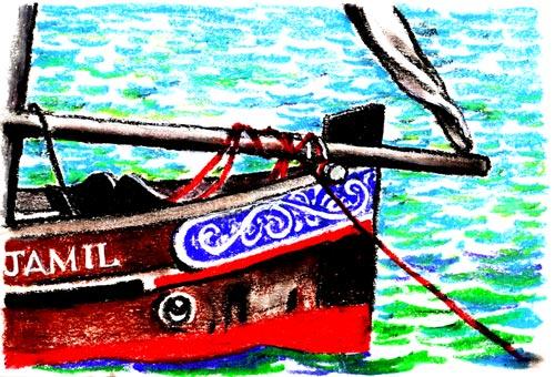 Dhow at Anchor