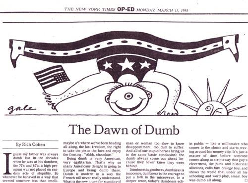 Dawn of Dumb