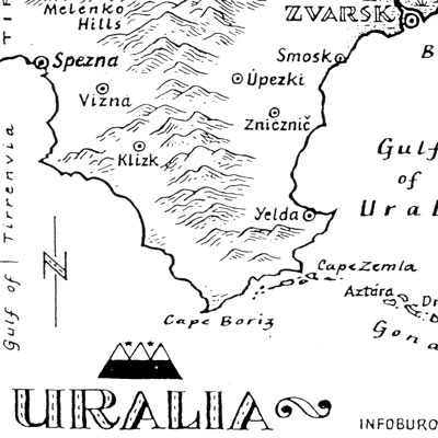 Map of Uralia (detail)