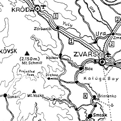 Contemporary Map of Central Uralia (detail)
