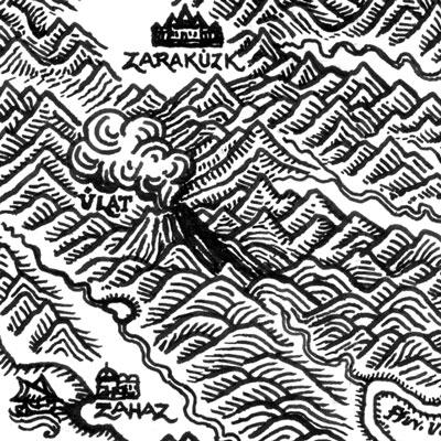 Medieval Woodcut Map of Uralia (detail)