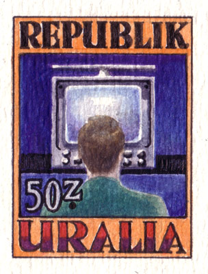 Uralia Communications Stamp (detail)