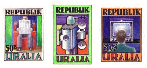 Uralia Communications Stamp