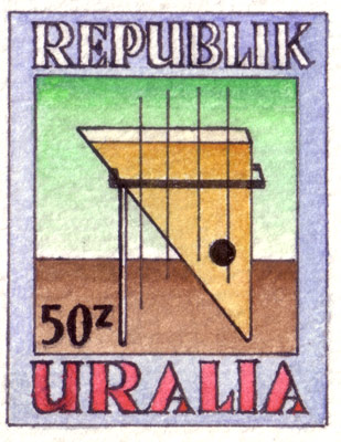 Uralia Musical Instruments Stamps (detail)