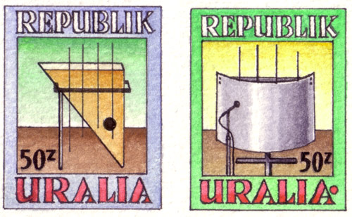 Uralia Musical Instruments Stamps