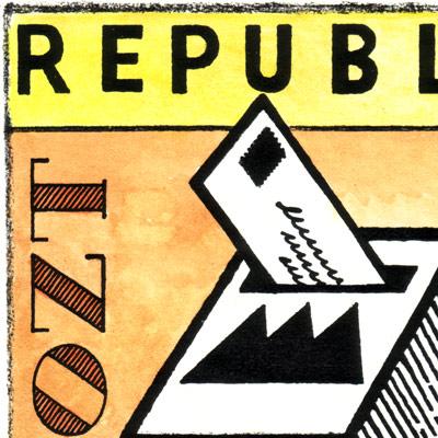 Uralia Post Office Stamp (detail)