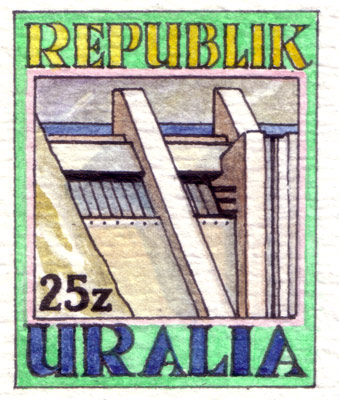 Uralia Public Works Stamps (detail)