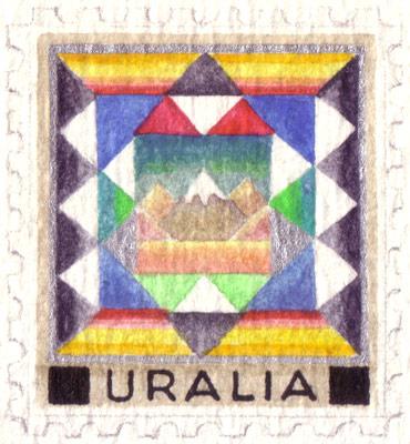 Uralia Regional Cultures Stamps (detail)