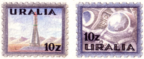 Uralia Space Stamps