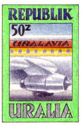Uralia Transport Stamps (detail)