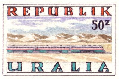 Uralia U-Rail Stamps (detail)