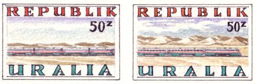 Uralia U-Rail Stamps