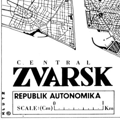 Plan Map of Zvarsk (detail)
