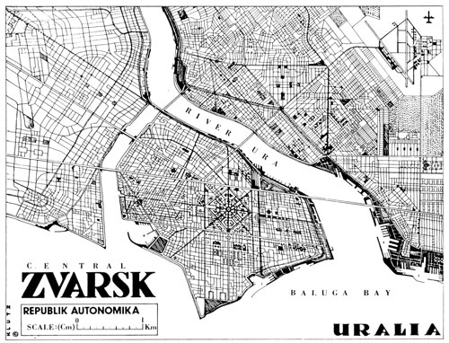 Plan Map of Zvarsk