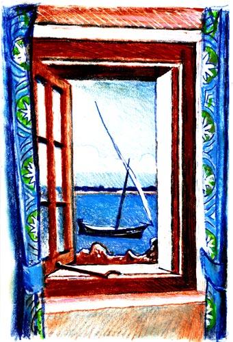 Peponi Hotel Bar Window